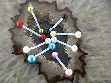 Brust Piercing Industrial Metallfrei Kunststoff Ball metallic Farben Ohr Intim