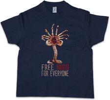 FREE HUGS FOR EVERYONE Kids Boys T-Shirt Facehugger Prometheus Weyland Fun Alien