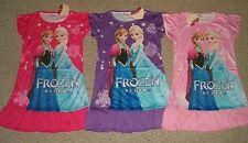 Disney Frozen Anna Elsa Nightgown Pajamas New Design 3/4 -  5/6 -  7/8 - 9/10