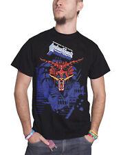 Judas Priest Camiseta los defensores de la Fe Azul con logotipo oficial hombre nuevo Negro