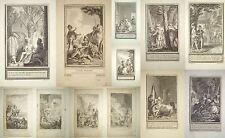 1790-ALBUM-MARILLIER CLEMENT-RACCOLTA 37 INCISIONI-ROMANTICHE-STORICHE-ORIGINALI