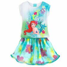 55cdc29d4f0 Disney Store Princess The Little Mermaid Ariel Skirt Set Girl Size 5 6