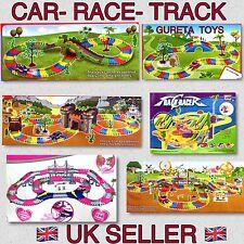 Flexible children car track set 128-257 pcs Racing game set Led Fun car Toy Uk