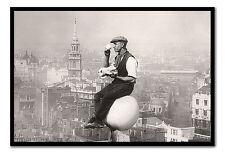 Incorniciato Londra pranzo MAN POSTER pronto da appendere-Scelta di Colori Cornice