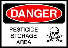 Pesticide Storage Area Danger OSHA / ANSI Aluminum METAL Sign