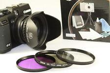High Resolution Filter KIT For Fujifilm Fuji X10 X20  + Adapter Ring HOOD Silver
