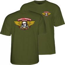 Powell Peralta alado Ripper Patineta Camiseta-Verde Huesos Brigade Clásico