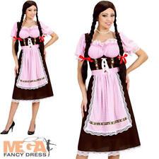Deluxe Bavarian Beer Lady Costume Womens German Oktoberfest Fancy Dress Outfit