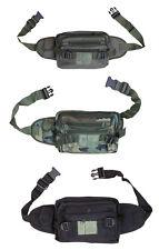 Army Combat Military Travel Waist Bum Bag Money Utility Belt Pack Black Surplus