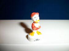 HUEY DUCK Donald's Nephew Mini Figurine Red DUCK TALES Porcelain FEVES Figure