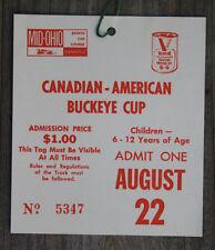 Vintage 1971 Mid-Ohio Can-Am Race Ticket Jackie Stewart L&M Lola T260 Win