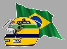 Ayrton SENNA FLAG/BRAZIL helmet left Sticker gauche