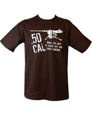 50 cal armée militaire T shirt noir tendre & Touch quelqu'un