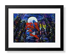 Uhomate Superhero Spiderman Poster Van Gogh Starry Night Wall Art A023