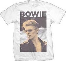 David Bowie Smoking Photo Ziggy Memorial Band Classic Rock Music T Tee Shirt
