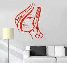 Vinyl Decal Hair Salon Beauty Woman Style Hairdresser Wall Stickers (ig1736)