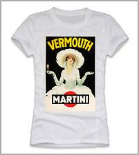 T-SHIRT DONNA UOMO  MARTINI VERMOUTH  LIQUORE MANIFESTO GEN0284