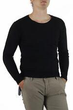 Maglia Daniele Alessandrini Sweater Pullover -60% Uomo Nero FM63818M3105-1 SALDI