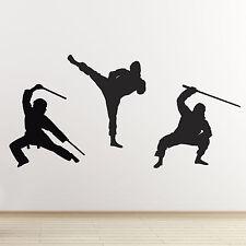 Ninja arts martiaux wall stickers-pack de 3 ninja mobiles autocollants muraux