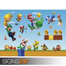 Super Mario Bros jeu (1093) Photo Poster print ART A0 A1 A2 A3 A4