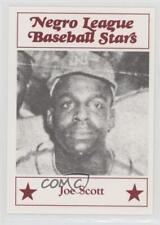 1986 Fritsch Negro League Baseball Stars #58 Joe Scott Memphis Red Sox Card