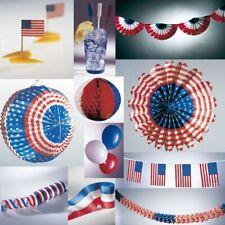 "USA Party Deko Amerika Frankreich blau weiss rot ""Stars & Stripes"" VIEL AUSWAHL"