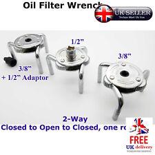 """Removedor de herramienta 3 mandíbula 3/8"""" & 1/2"""" aceite llave de filtro de combustible 2 vías de eliminación de dos unidades"""