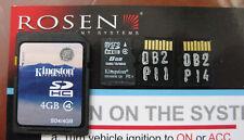 Rosen GPS Navigation Nav Map SD Cards for select models P11,N11,N14,H14, FIT..