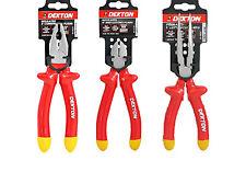 "Dekton 8"" 20cm Heavy Duty Insulated Long Nose/combination /side cutting Pliers N"