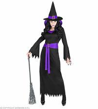 Damenkostüm Hexe lila Kragen Kostüm Damen Hexenkostüm Halloween Fasching Hut