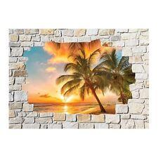 Adesivi parete inganna l'occhio pietra decocrazione Palme 8502