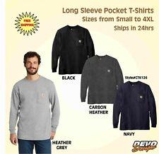 Carhartt Mens Workwear K126 Long Sleeve Pocket T Shirt FREE USA SHIPPING