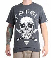 Fatal Clothing Charbon Croix Switchblade Tatouage Tête de Mort Gothique Punk