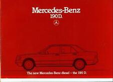 MERCEDES BENZ 190D SALES BROCHURE 1984 1985