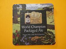 Beer Coaster Bar Mat: BADGER England's Gold Dorset Ale; Blandford Forum, England