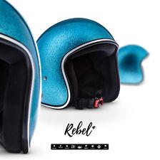 REBEL R2 FLAKES B Jet-Helm Vespa Retro Motorrad-Helm Roller Chopper XS S M L XL