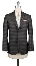 New $6300 Kiton Dark Brown Shephard's Check Sportcoat - (KT1G5467R8U)