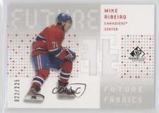 2002 SP Game Used Future Fabrics #MR Mike Ribeiro Montreal Canadiens Hockey Card