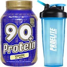Nutrisport 90+Proteine 1kg Proteine del siero di latte ISOLARE + Agitare 908g