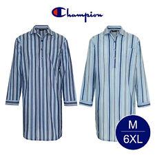 Champion Men's Westminster Polycotton Summer Striped Nightshirt Big Sizes M 6XL