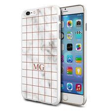 personnalisé marbre étui de téléphone pour apple Samsung Initiale Texte Nom - 33