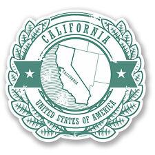 2 x CALIFORNIA USA Adesivo Auto Moto iPad Laptop Decalcomania cali BAGAGLIO VIAGGIO # 4212