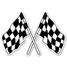 Racing Flags Car Vinyl Sticker - Select Size