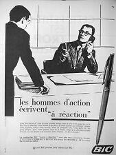 PUBLICITÉ LA CARTOUCHE BIC ENCRE A REACTION POUR LES HOMMES D'ACTION