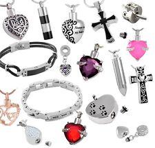 Urn Necklace Cremation Jewellery Ashes Pendant Locket Keepsake Memorial Funeral