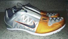 NEW Mens NIKE Zoom LJ 4 Long Jump Pole Vault Track Shoes Silver Orange 5 12.5 15