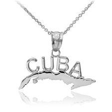 925 Sterling Silver CUBA Pendant Necklace