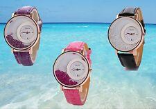 """Montre femme luxe """" Perla """"  bracelet Look cuir Crocro + 1 pile KDO  U01"""