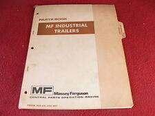 Massey Ferguson Industrial Trailer Originial Dealer's Parts Book