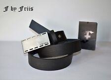 Gürtel by FRIIS *FLY BELT black* synt.Leder Gürtel mit Logo Metall Schnalle* Neu